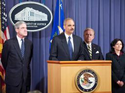 Attorney General Holder announces the results of a nationwide takedown, Operation Stolen Dreams, which targeted mortgage fraudsters throughout the country.
