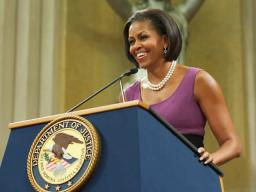 First Lady Michelle Obama shared her reason for becoming an attorney. I knew that lawyers had the ability to help turn words int