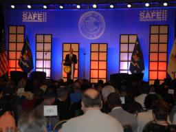 Attorney General Holder addresses conference attendees of the Project Safe Neighborhood annual conference held in New Orleans.