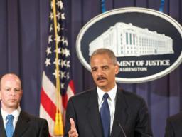 AG Holder addressing reporters