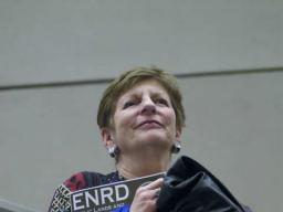 An ENRD supporter watches the presentation of awards.
