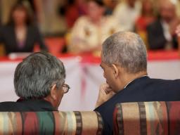 Attorney General Holder and President John Yellow Bird Steele of the Oglala Sioux Tribe.