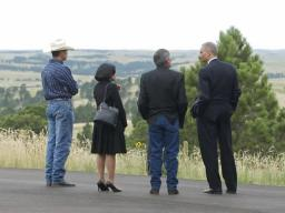 AAG Moreno, President John Yellow Bird Steele, and AG Eric Holder