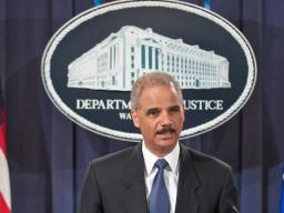 Attorney General Eric H. Holder Jr. at the Operation Delego Press Conference.