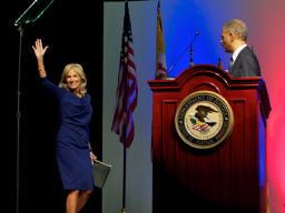 AG Holder and Dr. Jill Biden deliver remarks at the Department of Justice's OJJDP national conference