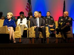 """AG speaks about the recipients of the White House's """"Champions of Change"""" honors."""