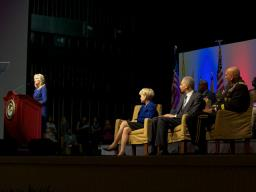 Second Lady of the United States Dr. Jill Biden spoke to the military families who were invited to the conference.