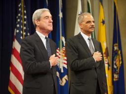 Attorney General Eric Holder and Director Robert S. Mueller III of the FBI