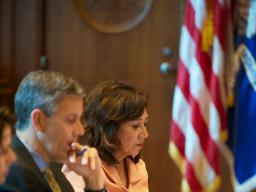 DOL Secretary Hilda Solis attends the federal interagency Reentry Council where she speaks to DOL's dedication.