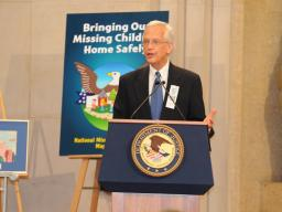 Ernie Allen, President and CEO of the National Center for Missing and Exploited Children, speaks on behalf of his organization