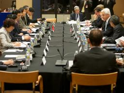U.S. and Chinese officials at the high level joint dialogue between competition agencies in Washington, D.C.