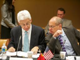 AAG (A) Joseph Wayland and FTC Chairman Jon Leibowitz at the first  meeting between the U.S. and Chinese competition agencies.