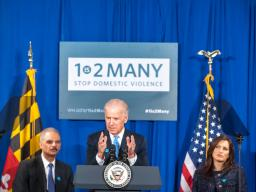 Vice President Biden affirms his commitment to helping those affected by domestic violence.