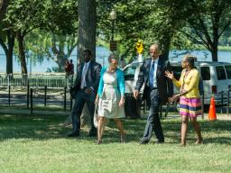 Attorney General Holder arrives with his wife, Dr. Sharon Malone