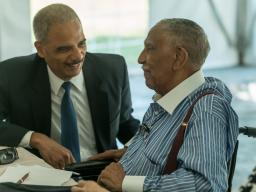 Attorney General Holder meets with Civil Rights Leader Reverend Joseph Lowery