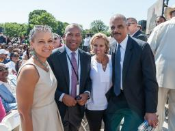 Attorney General and Dr. Malone with Massachusetts Governor Deval Patrick and Human Rights Activist Kerry Kennedy