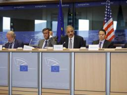 Attorney General Eric Holder spoke passionately about the common values and responsibilies of the United States and European Union.