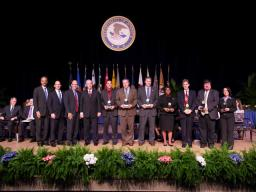 Among the awards was the Attorney General's Award for Distinguished Service in the successful prosecution of a civil rights case involving a racially motivated beating in Pennsylvania. Recipients included employees from the Civil Rights Dvision Special Litigation, the U.S. Attorney's Office for the Middle District of Pennsylvania, and the FBI.
