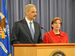 AG Eric Holder and Acting AAG Sharis A. Pozen