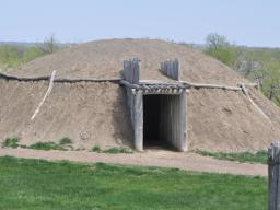 Mandan ceremonial house at the recreated Mandan Village at Fort Abraham Lincoln State Park