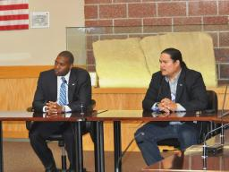 AAG (A) West and Northern Cheyenne Council Representative Killsback during a meeting.