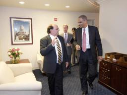 The Attorney General tours the EOIR Offices.