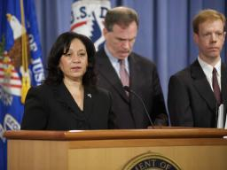 Acting DEA Administrator Leonhart delivers her remarks.