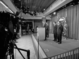 Attorney General Eric Holder, Treasury Secretary Tim Geithner, HUD Secretary Shaun Donovan, and SEC Director of Enforcement Robert Khuzami announce the establishment of the President's Financial Fraud Enforcement Task Force.