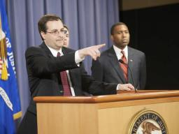 Associate Attorney General Perrelli takes questions.