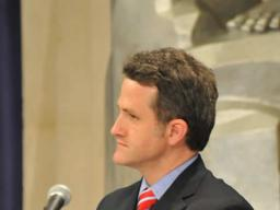 "Jim True-Frost (""Prez"") takes part in the Drug Endangered Task Force panel"