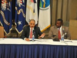Attorney General Holder addresses the department's efforts to empower communities to better serve children exposed to drug abuse, trafficking and addiction by their parent or childcare provider.