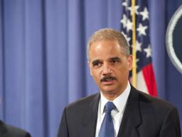 Attorney General Eric Holder recognized and thanked law enforcement agents from various federal, state and local law enforcement