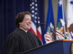 Justice Elena Kagan addresses the audience at the installation ceremony.