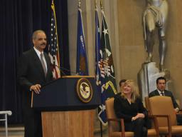 Eric Holder, Attorney General, speaking of transparency in the Justice Department.