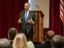Attorney General Eric Holder Speaks at the Northern Border Summit