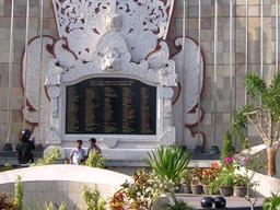 Bali - Memorial for the victims of the Bali Bombings in Bali, Indonesia on October 12, 2002