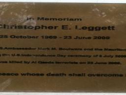 June 23, 2009. Nouakchott- Memorial for a teacher who was killed in Nouakchott, Mauritania.
