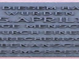 April 5, 1986. Berlin - Memorial for the victims of the La Belle Discotheque Bombing in Berlin, Germany.