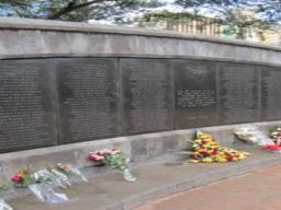August 7, 1998. Nairobi - Memorial for the victims of the U.S. Embassy Bombing in Nairobi, Kenya.
