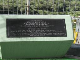 August 31, 2002. Timika  - Memorial on school grounds for the victims of an armed attack in Papua Province, Indonesia.