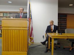 U.S. Attorney Bharara introduces DHS Secretary Jeh Johnson to the Office