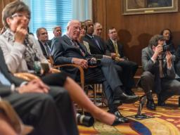 Senior Advisor to the President Valerie Jarrett, Senator Patrick Leahy, Acting Deputy Attorney General Sally Quillian Yates, S