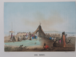 Hand-colored lithograph from antique book