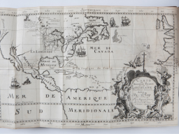 Map from antique book