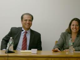 U.S. Attorney Preet Bharara with Lisa Monaco