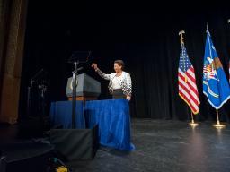Attorney General Loretta Lynch speaks at her investiture ceremony.