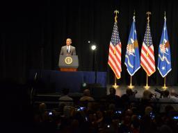 President Obama speaks at Attorney General Loretta Lynch's investiture ceremony.