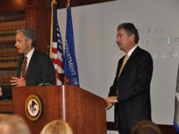 U.S. Attorney John Walsh with Deputy Attorney General James Cole