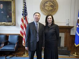 Assistant Attorney General Christine Varney meets with Shang Ming, Director General of Antimonopoly Bureau