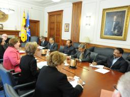 Department of Justice and Indian government officials meet in Washington, D.C.